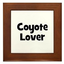 Coyote Lover Framed Tile