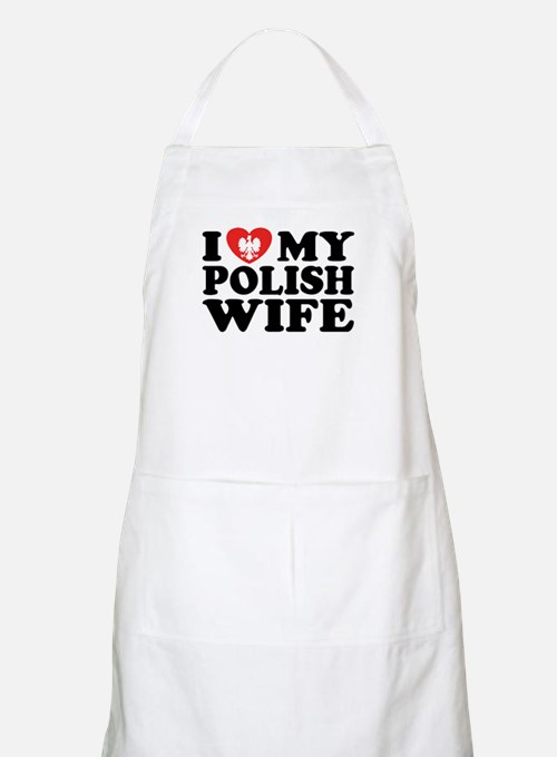 I Love My Polish Wife BBQ Apron
