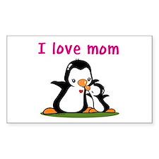 I Love Mom (2) Decal