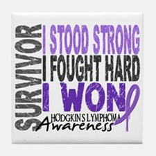 Survivor 4 Hodgkin's Lymphoma Tile Coaster