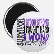 "Survivor 4 Hodgkin's Lymphoma 2.25"" Magnet (100 pa"