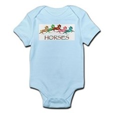 many leaping horses Infant Creeper
