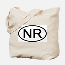 NR - Initial Oval Tote Bag