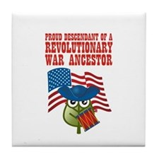 Revolutionary War Ancestor Tile Coaster