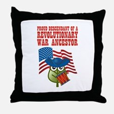 Revolutionary War Ancestor Throw Pillow