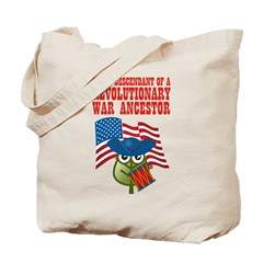 Revolutionary War Ancestor Tote Bag