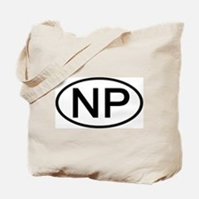 NP - Initial Oval Tote Bag