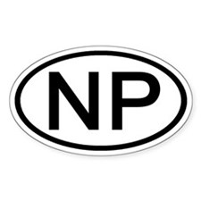 NP - Initial Oval Oval Decal