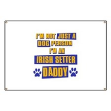 Irish setter Daddy Banner