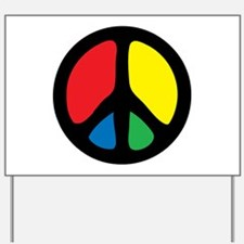 Funky Peace Symbol Yard Sign