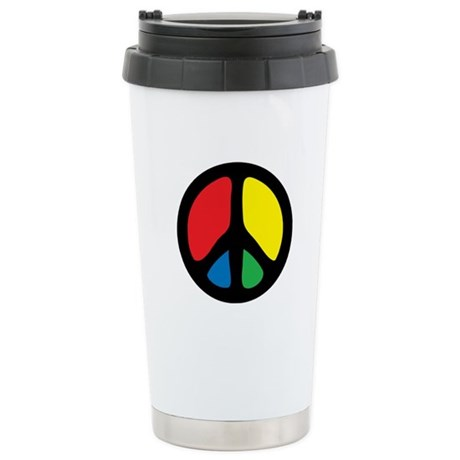 Funky Peace Symbol Stainless Steel Travel Mug