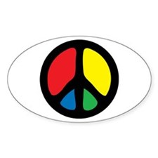 Funky Peace Symbol Decal