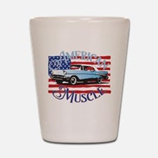 57 Chevy American Muscle Shot Glass
