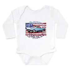 57 Chevy American Muscle Long Sleeve Infant Bodysu