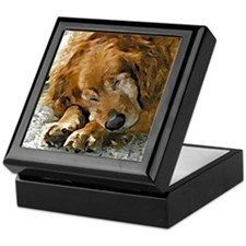Golden Retriever Tile Keepsake Box