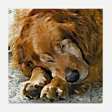 Golden Retriever collectible dog art tile