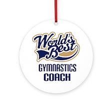 Gymnastics Coach Gift Ornament (Round)
