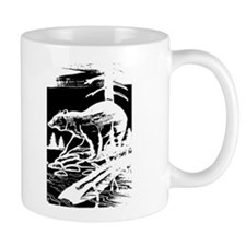 HUNTING BEAR OUTDOOR SCENE_Blk/white-2 images Mug