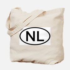 NL - Initial Oval Tote Bag