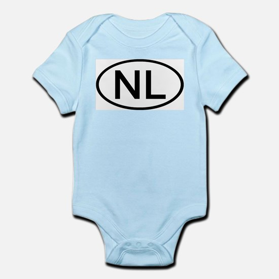 NL - Initial Oval Infant Creeper