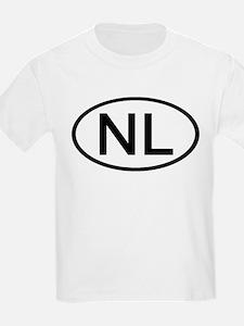 NL - Initial Oval Kids T-Shirt