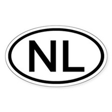 NL - Initial Oval Oval Decal