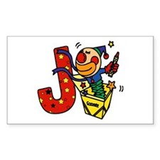 Alphabet letter for J names Rectangle Decal