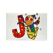 Alphabet letter for J names Rectangle Magnet