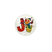 Alphabet letter for J names Mini Button