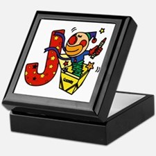 Alphabet letter for J names Keepsake Box