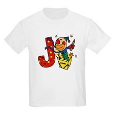 Alphabet letter for J names Kids T-Shirt