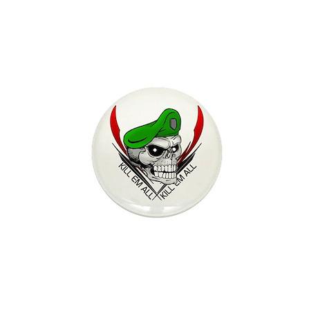 Green Beret Skull Mini Button