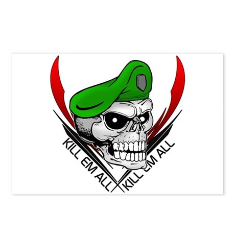 Green Beret Skull Postcards (Package of 8)