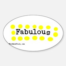 WildEyedPixie - Fabulous Oval Decal