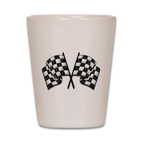 Chequered Flag Shot Glass