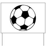 Soccer Football Icon Yard Sign