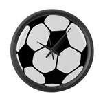 Soccer Football Icon Large Wall Clock