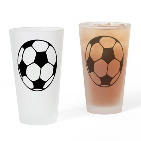 Soccer Football Icon Pint Glass