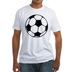 Soccer Football Icon Fitted T-Shirt