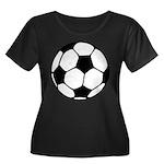 Soccer Football Icon Women's Plus Size Scoop Neck