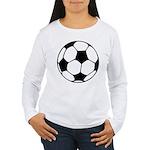 Soccer Football Icon Women's Long Sleeve T-Shirt