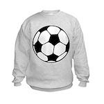 Soccer Football Icon Kids Sweatshirt