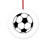 Soccer Football Icon Ornament (Round)