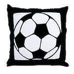 Soccer Football Icon Throw Pillow