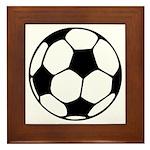 Soccer Football Icon Framed Tile