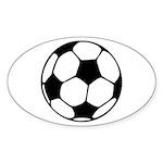 Soccer Football Icon Sticker (Oval 10 pk)