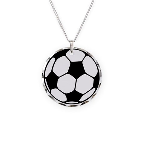 Soccer Football Icon Necklace Circle Charm