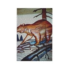 HUNTING BEAR MOSAIC IN THE WILD_ Rectangle Magnet