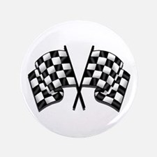 "Chequered Flag 3.5"" Button"