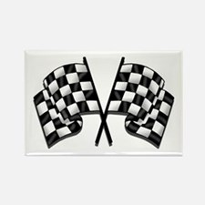 Chequered Flag Rectangle Magnet (100 pack)